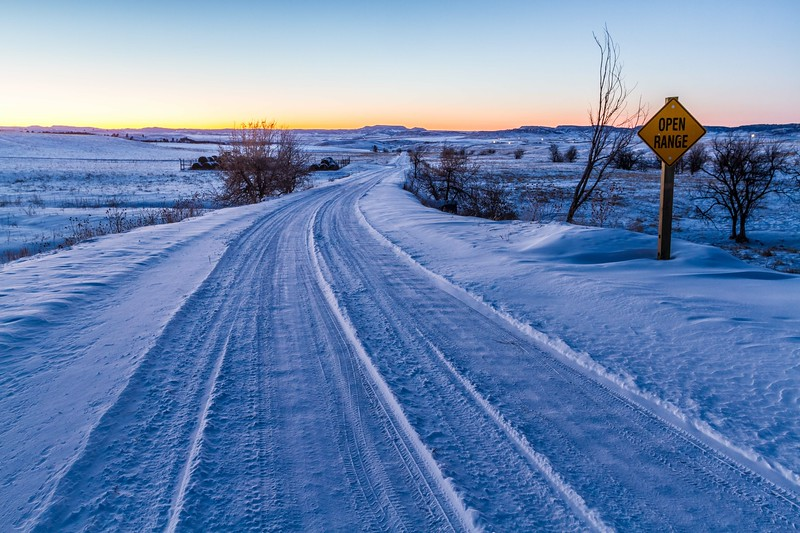 Along Homestake Road west of Spearfish
