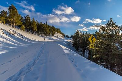 Road to Mount Roosevelt near Deadwood