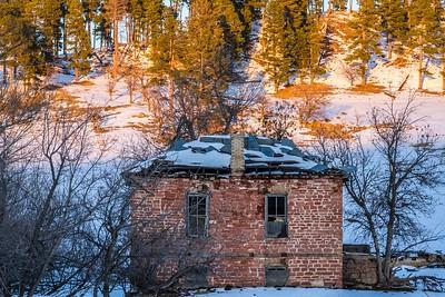 Abandoned house along St. Onge Road