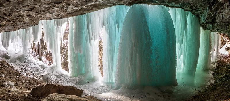 Ice in Baker's Cave just south of Bridal Veil Falls in Spearfish Canyon