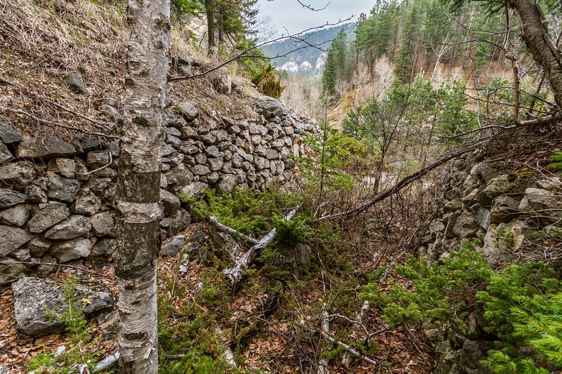 Rock wall in Spearfish Canyon