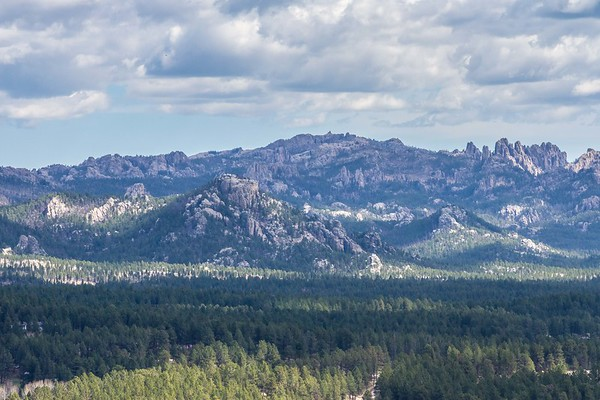 View from the Custer Skywalk Trail