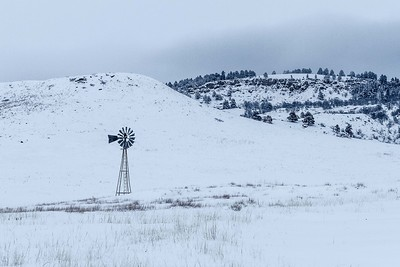 Windmill along Lookout Mountain Road north of Spearfish