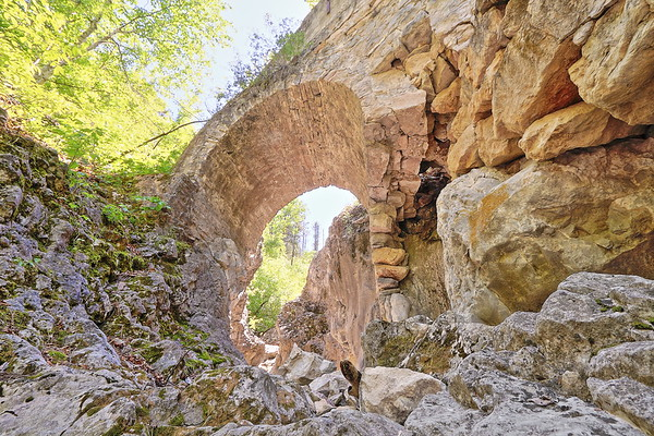 Old stone arch over Alkali Creek south of Sturgis