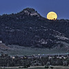 Full moon rising over Lookout Mountain in Spearfish