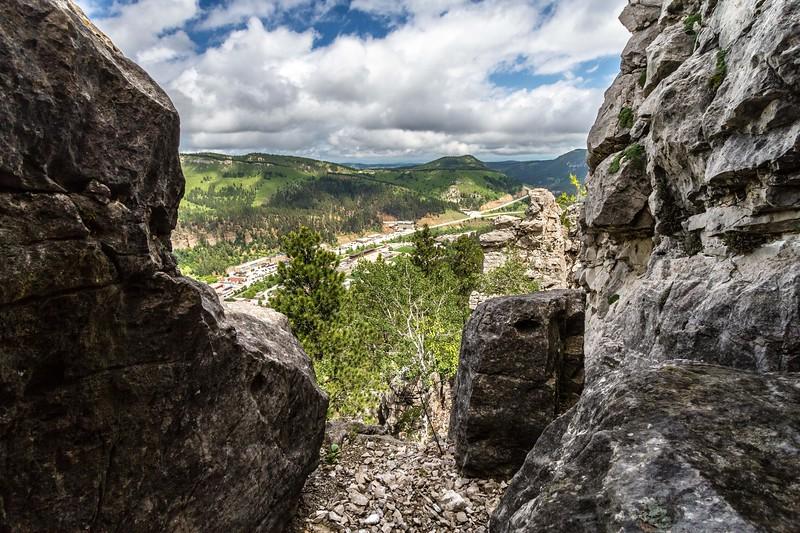 View from White Rocks in Deadwood
