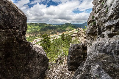 View from White Rocks in Deadwood