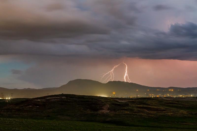 Lightning over Crow Peak
