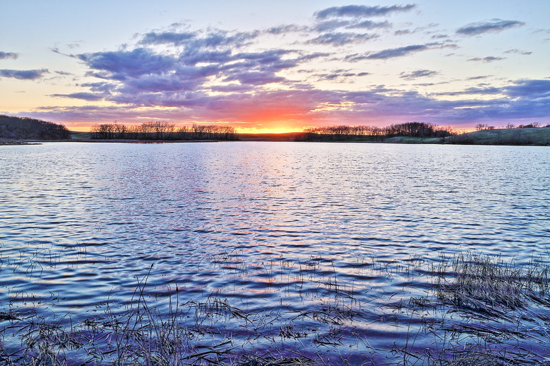 Sunset over Mud Lake