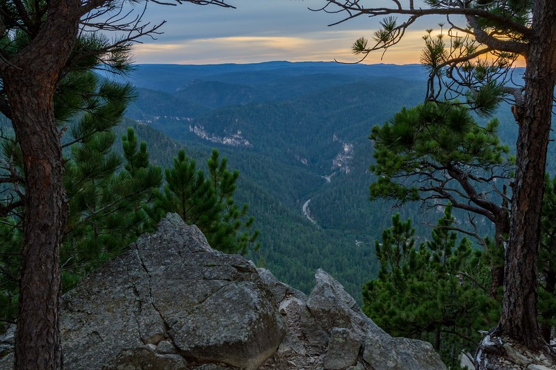 Overlooking Spearfish Canyon from Spearfish Peak
