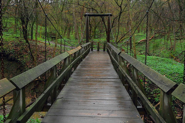 Bridge in Newton Hills State Park southeast of Sioux Falls