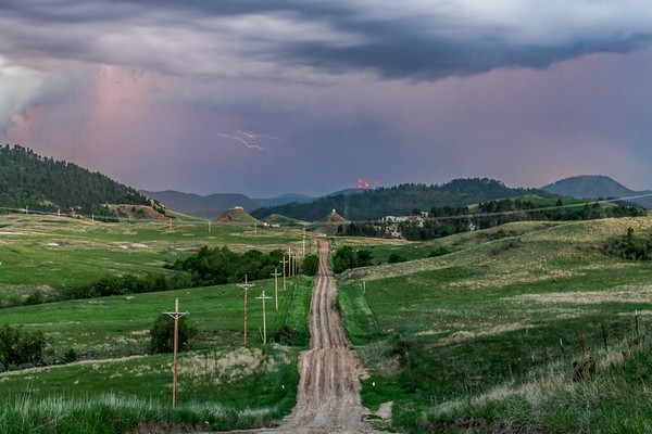 Lightning near Spearfish