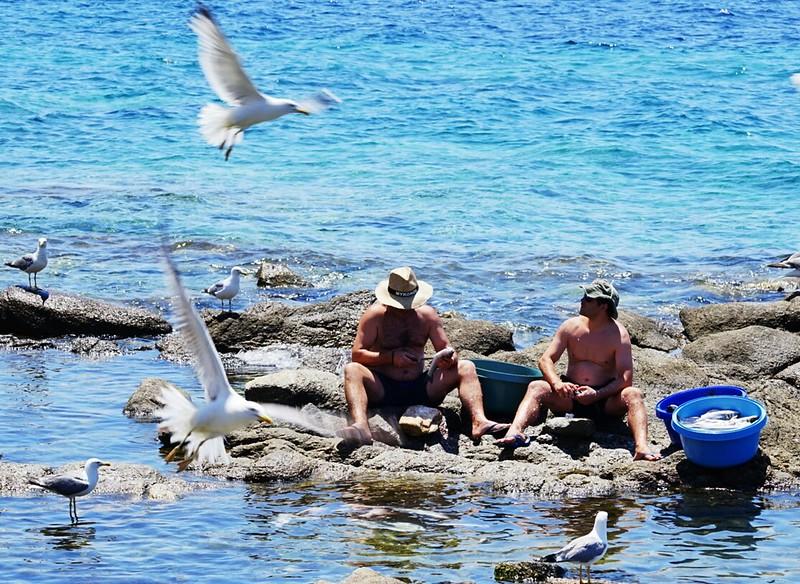 Santorini fishermen
