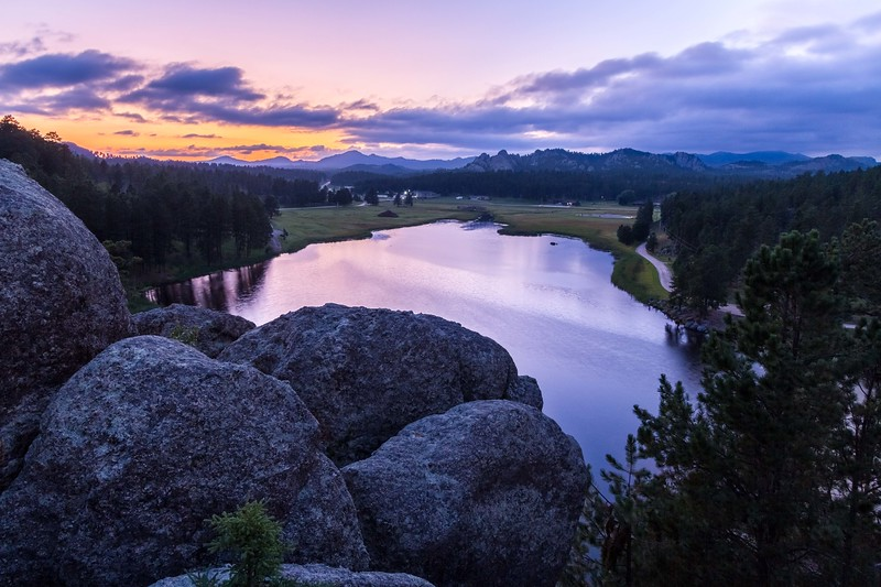 Sunset over Stockade Lake