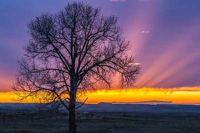 Sunset near Spearfish