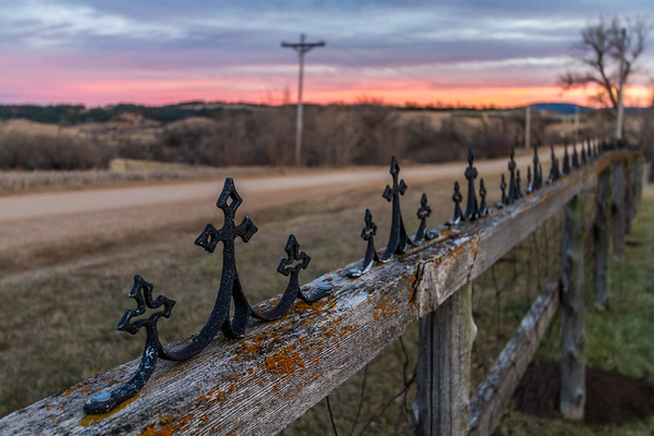 Fence at the Little Dane Church