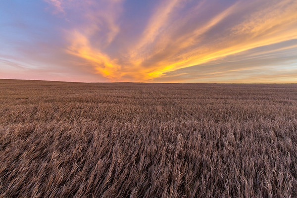 Sunset north of Sturgis