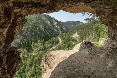 Shallow cave in Spearfish Canyon