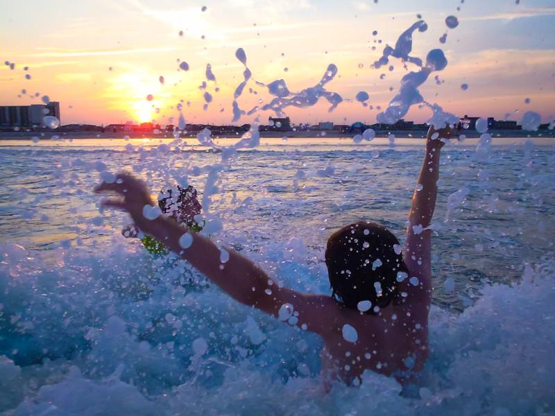 Ocean City splash