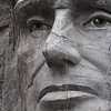 Close up of Lincoln on Mount Rushmore