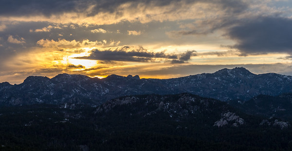 Sunset over the Black Hills