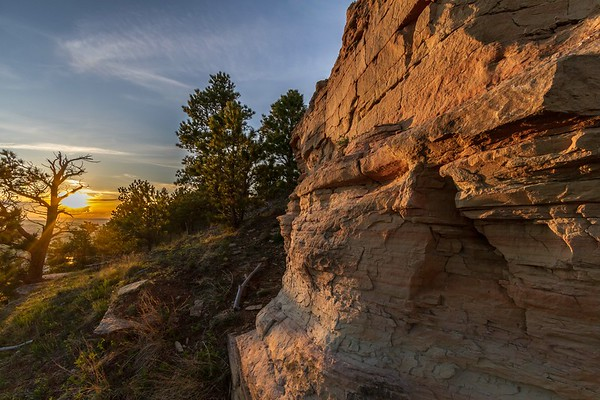 Evening light on Lookout Mountain in Spearfish