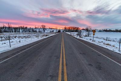 Sunset over Old Belle Road