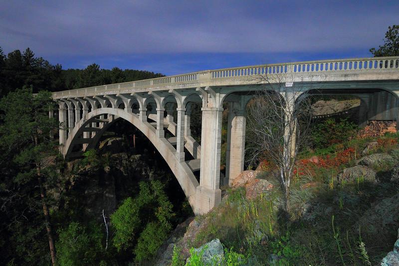 Beaver Creek Bridge in the moonlight