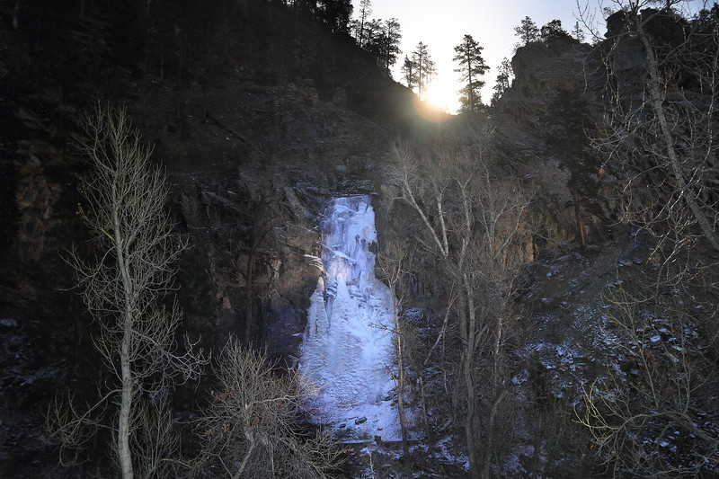 Moonrise over Bridal Veil Falls in Spearfish Canyon