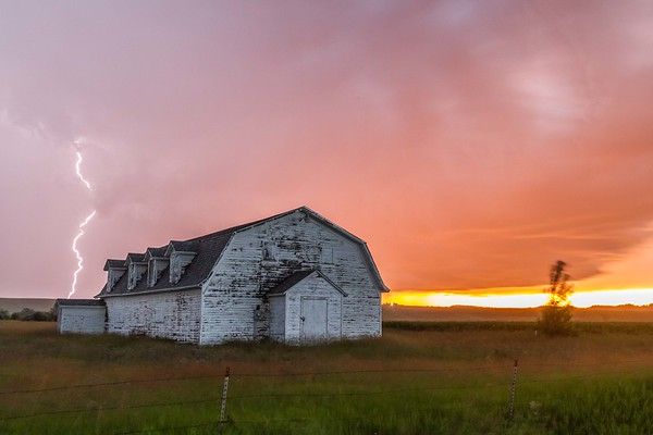 Stormy sunset near Spearfish