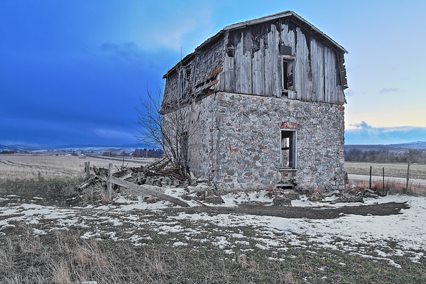 Old building along the St. Onge Road