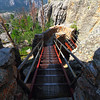 Stairs leading up to the summit of Harney Peak