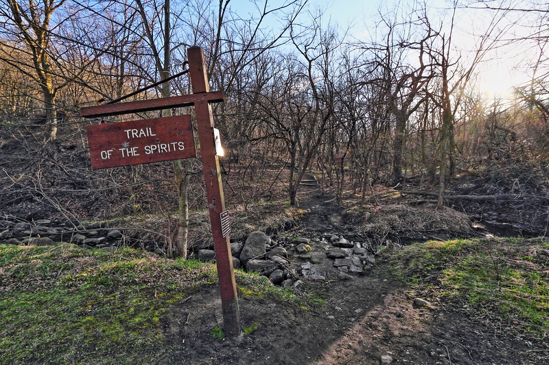 Trail of the Spirits in Sica Hollow State Park