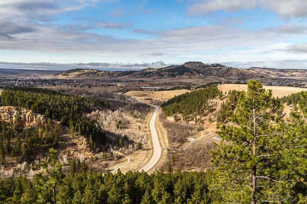 View from the rim of Spearfish Canyon