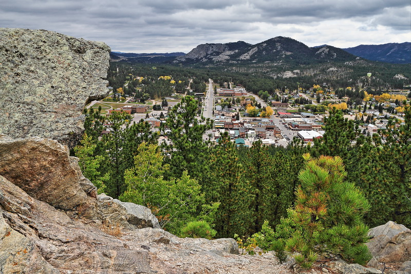 Overlooking Custer from the Custer Skywalk trail