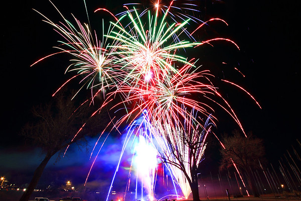 "Fireworks for the ""Light up the Night"" event in Belle Fourche"