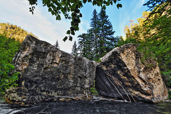 The Kissing Rocks in Spearfish Canyon