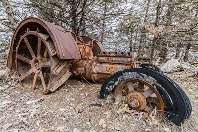 Old tractor on LaFramboise Island in Pierre