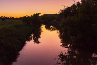 Sunset over Redwater River