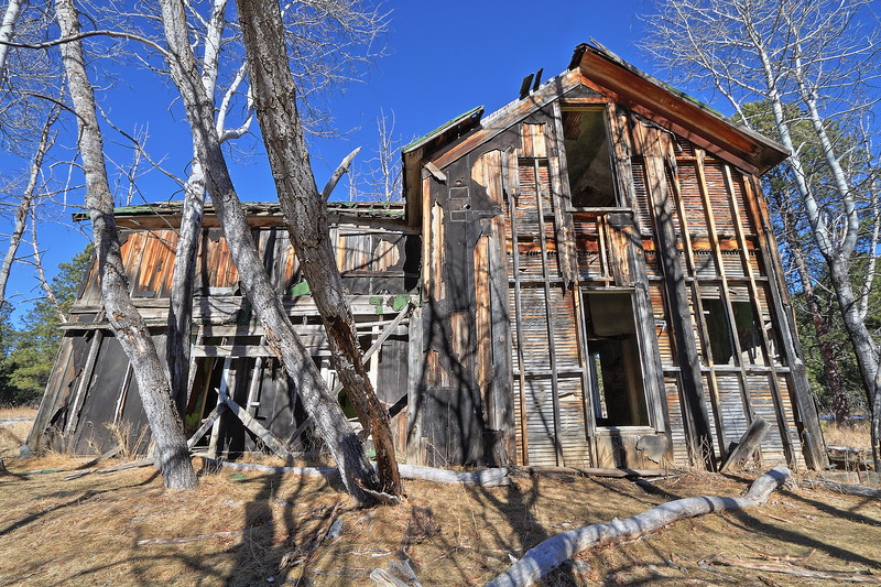 House at the ghost town of Spokane