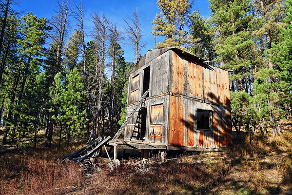 Abandoned building at the ghost town of Carbonate