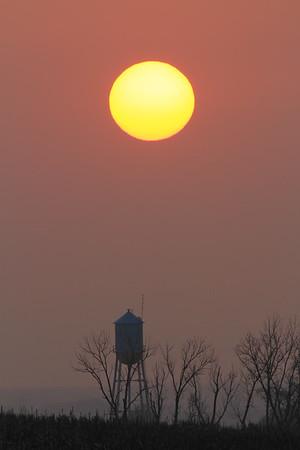 Sunset over Volin northeast of Yankton
