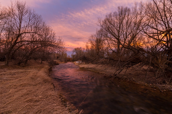 Sunset over Spearfish Creek