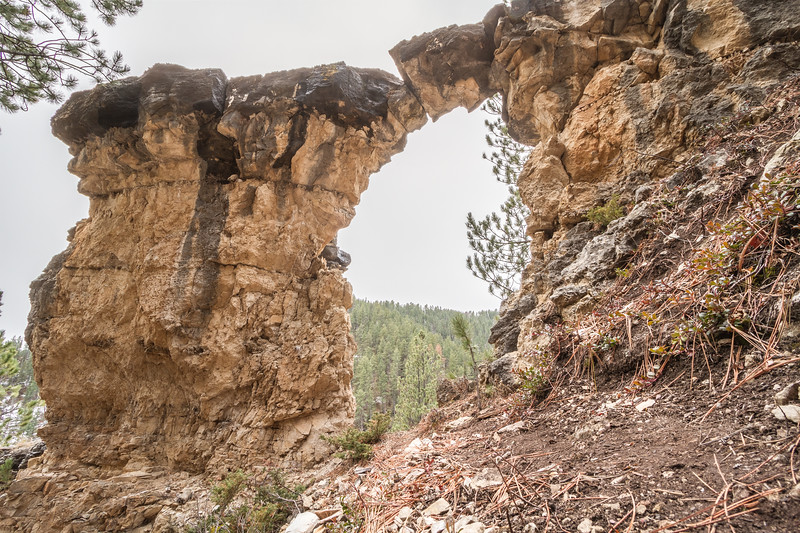 Natural arch in Spearfish Canyon