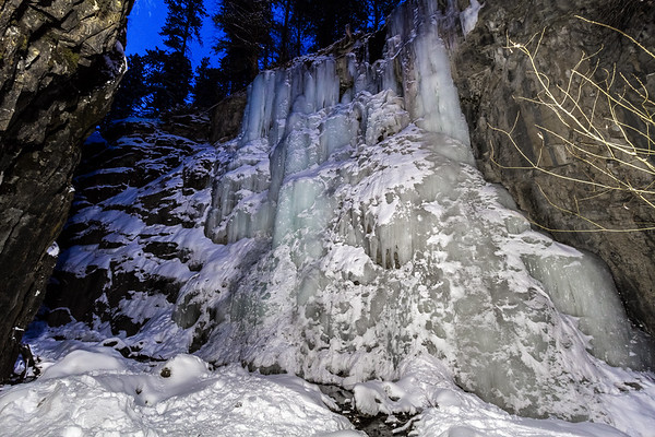 Ice in 11th Hour Gulch in Spearfish Canyon