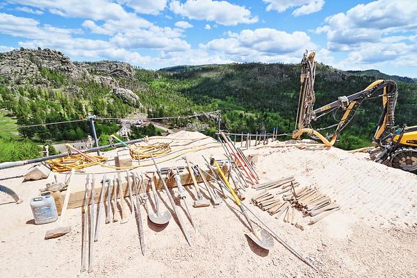 Tools at Crazy Horse Memorial