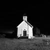 Little Dane Church at night