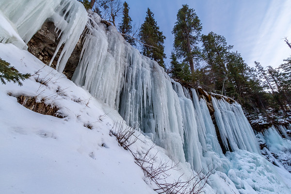 Ice over Baker's Cave in Spearfish Canyon