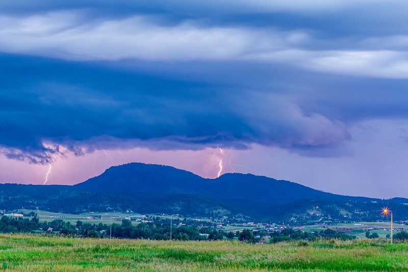 Lightning over Crow Peak in Spearfish