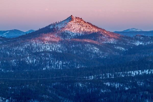 Evening light on Custer Peak